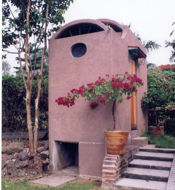 Composting toilets for houses | Double-vault dry toilet in Mexico. (photo from Tepoz-Eco).