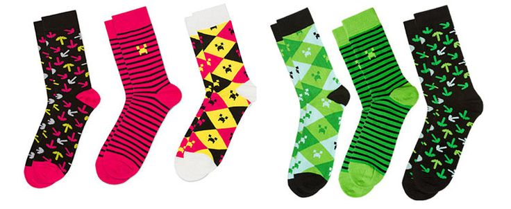 Minecraft gifts: 3-pack minecraft socks @coolmompicks #cmpholiday