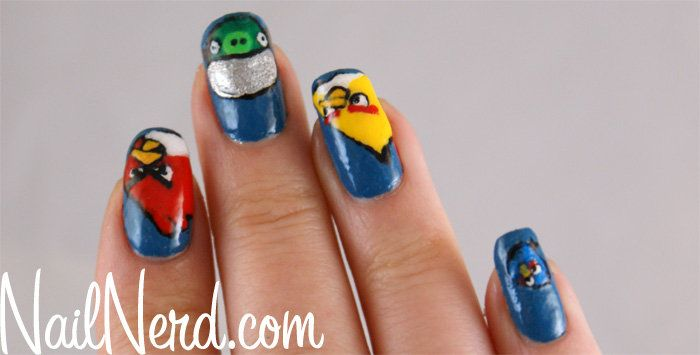 Angry Birds Manicure