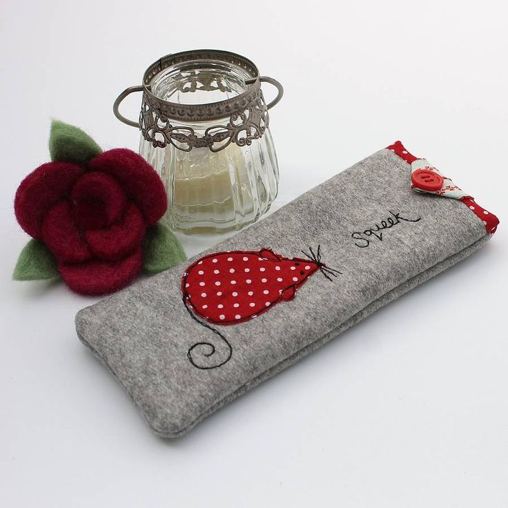 ratón appliqued caja de vidrios por honeypips | notonthehighstreet.com