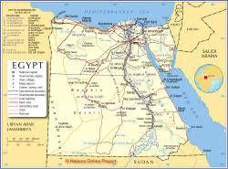Mapa Político de Egipto