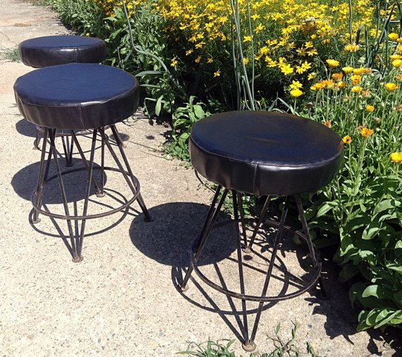 Trendler Mid Century 1950 S Black Wrought Iron Hairpin Leg
