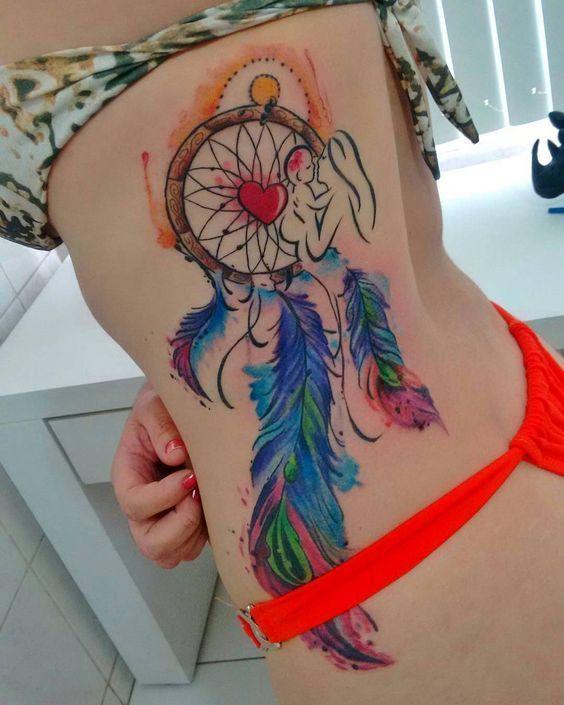 Tatuajes De Atrapasueñosespalda Piernacostillas Atrapa