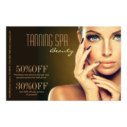 modern chic beauty SPA tanning salon Custom Flyer ::  Get FREE 2-Day Shipping with Zazzle Black!   --> click now for SALES!!