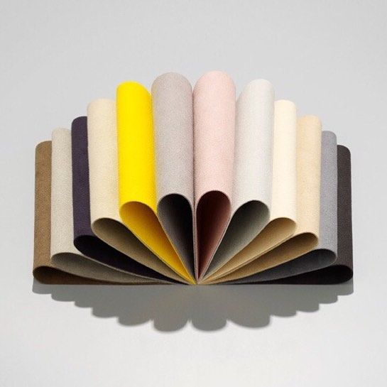 Ice cream colours. Our Waterborn is the sustainable alternative to leather and suede  #sustainable #ecofriendly #velvety #surface #icecreamcolours #cream #creamcolor #subtletones #kvadrattextiles #lovecolour #interior #texture #design #dress #photography #textiles #details #craft #texture #deco #inspiration #interieur #interiors