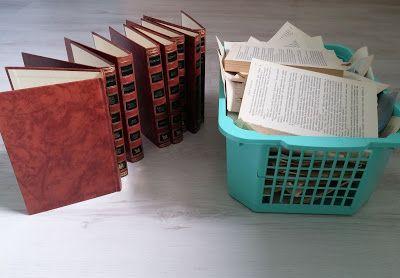 Itte tehty: Vanhoista kirjoista säilytyslaatikoita