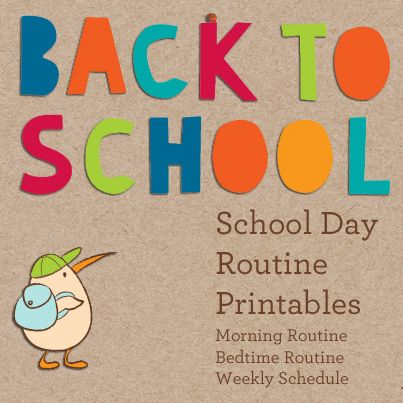 Just in time for Back to School: our printable routines and schedules! Print one out for every day of the week--or do what we do: drop them in a plastic page protector and let kids cross out the steps themselves with a dry-erase marker.