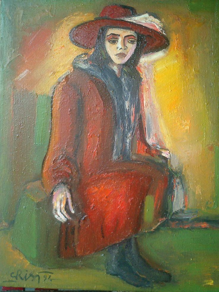 Ioan Cristea - Femeia cu palarie