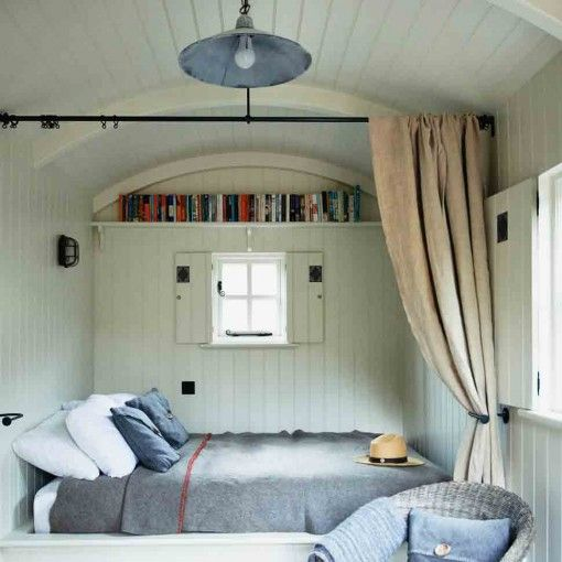 Create a simple bedroom in a shed in the garden, back to nature Shed Decor by Sally Coulthard £25