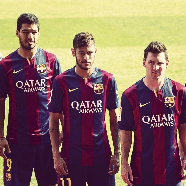 Leo Messi Neymar Jr. and Luis Suarez on FIFA FIFPro 2014 striker shortlist