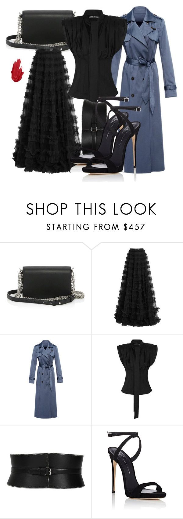 """Untitled #5434"" by beatrizvilar on Polyvore featuring Alexander Wang, Rachel Gilbert, Martin Grant, Jacquemus, Alaïa and Giuseppe Zanotti"