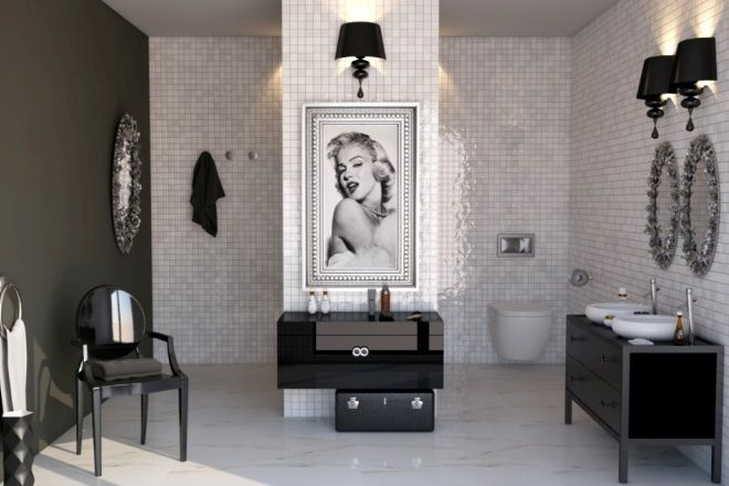 Marylin monroe/ bathroom inspirations