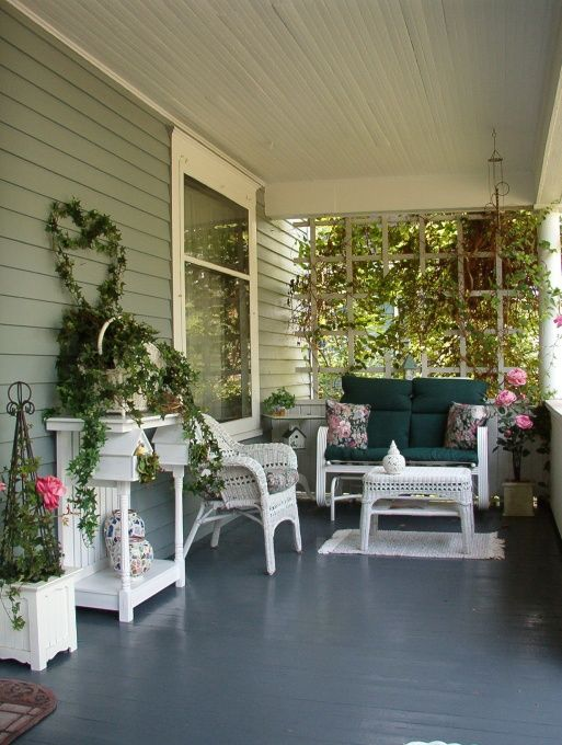 Front Porch Decorating Product | Front Porch, This is our front porch where we have our morning coffee ...
