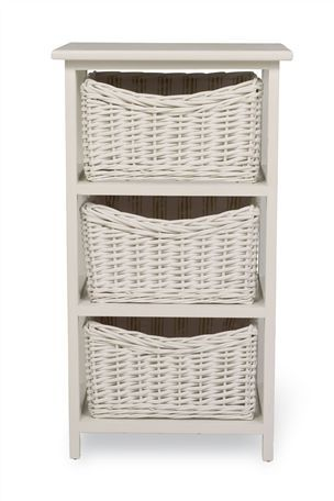 Buy Set Of 3 White Wicker Baskets from the Next UK online shop