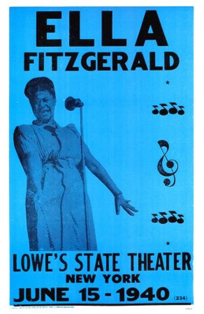 1940 Ella Fitzgerald Concert Poster