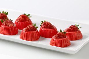 Strawberry Yogurt Bites...can be made sugarfree.