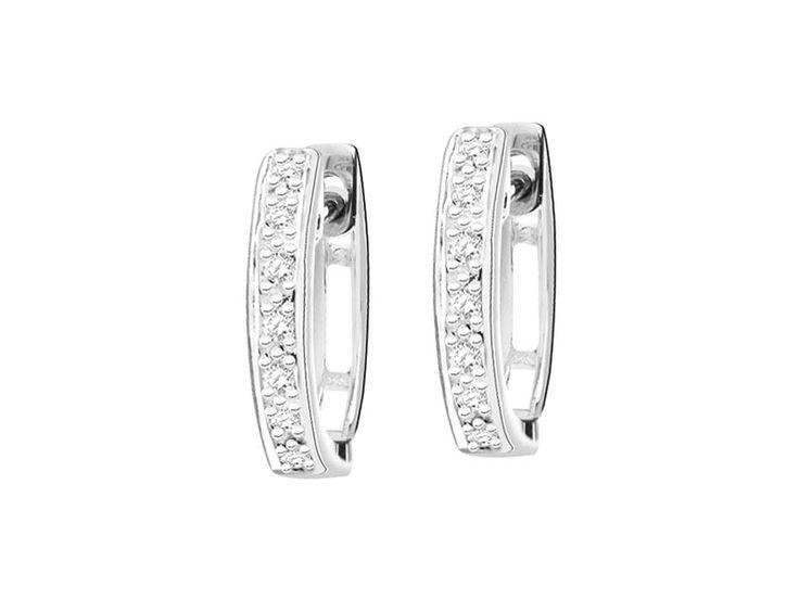 Kolczyki z białego złota z diamentami - wzór 126.129 / Apart