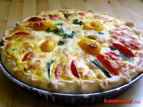 Cukkinis-paradicsomos pite