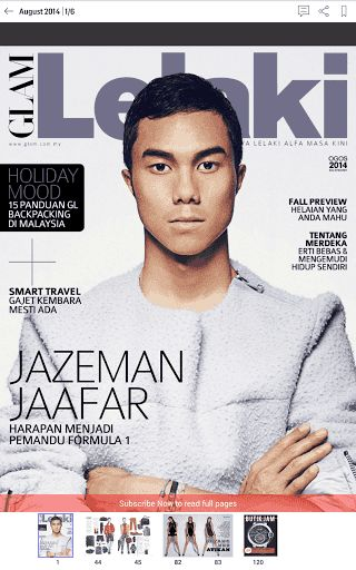 GLAM Lelaki from SPH Magazines is the only Malay style guide for the modern stylish man. It is a magazine of men's style, pop culture and current affairs with content that is inspirational, intellectual and informative.<p>May 2014: Glam Lelaki's smoking h