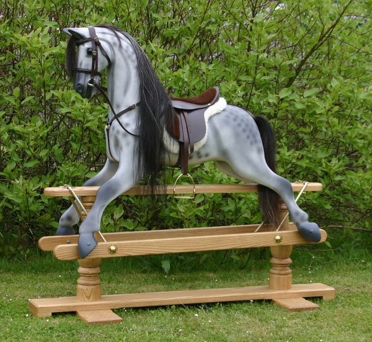 23 best rocking horse carved horse carousel images on for Hand crafted rocking horse