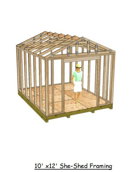Is a 10x12 gable style shed that will make for the perfect she shed