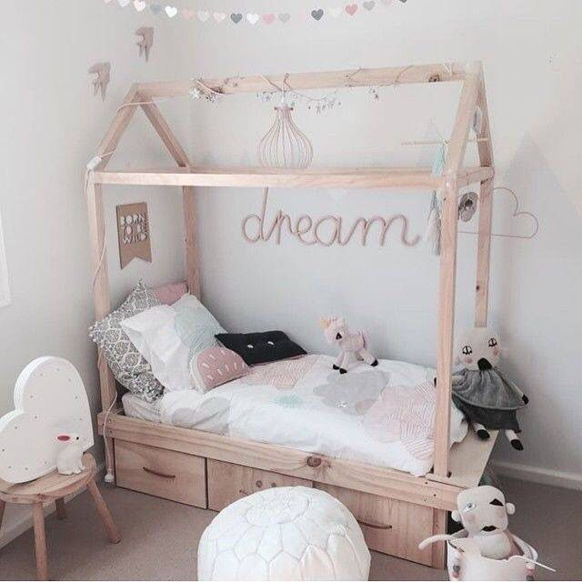 """Idea is just for dream. Could use old door painted in duck egg blue for """"headboard"""" with dream painted in Antoinette."""