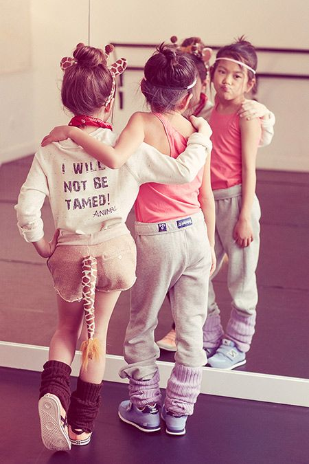 LOVE it! I will not be tamed #kids #fashion   OMG future giraffe daughter...at a dance studio!!