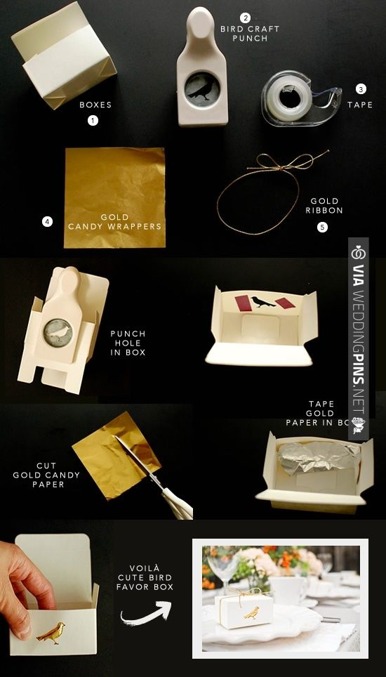 gold favor boxes | CHECK OUT MORE IDEAS AT WEDDINGPINS.NET | #diyweddings