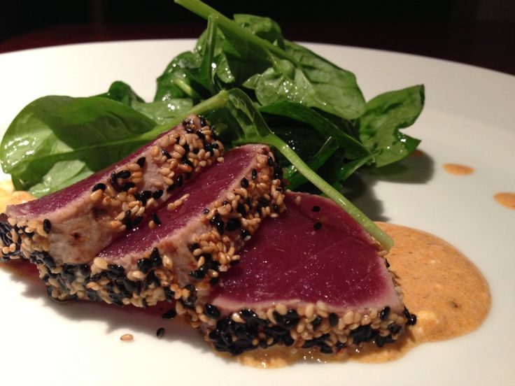 Ahi Tuna Steak Recipe on Pinterest | Tuna Steaks Recipe, Seared Ahi ...