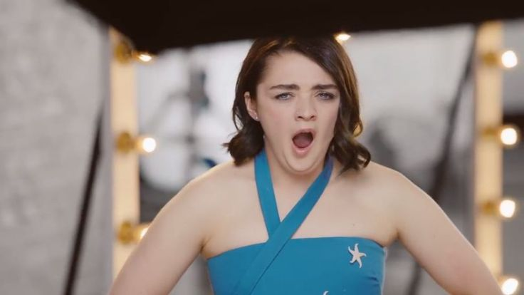 Maisie Williams fake commercial