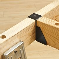 Sawhorse Supports for Creating Work Table.  Using two conventional saw horses has just one drawback, no support between the two sawhorses.  Using Rockler's new sawhorse supports, you add two cross braces between the two horses and no longer does your work surface have to suffer from swayback