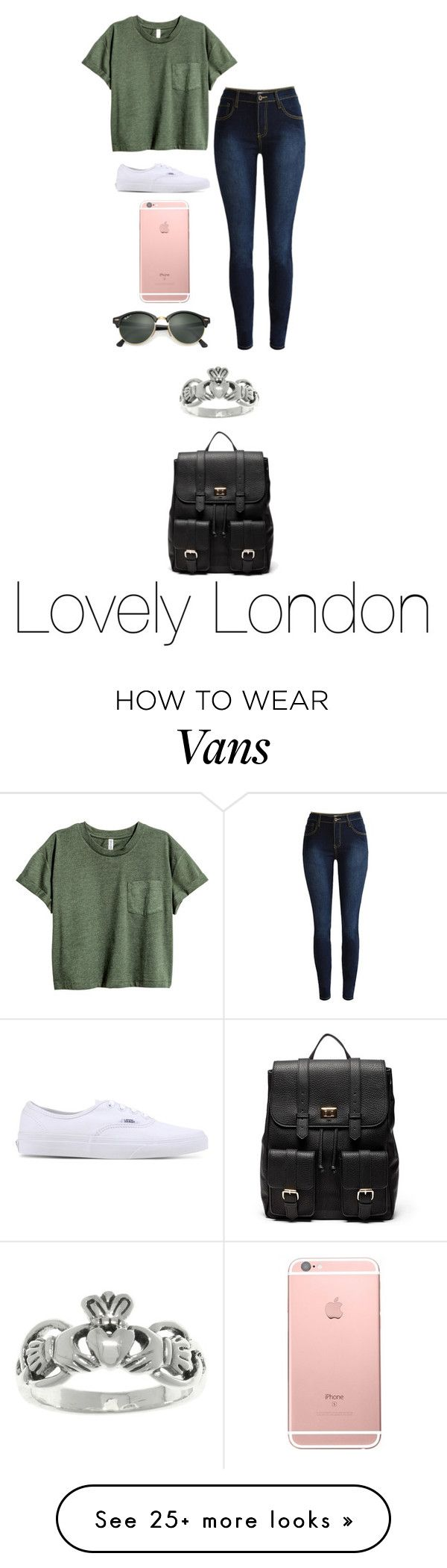 """Lovely London"" by tiffanylechner on Polyvore featuring Vans, Ray-Ban, Carolina Glamour Collection and Sole Society"