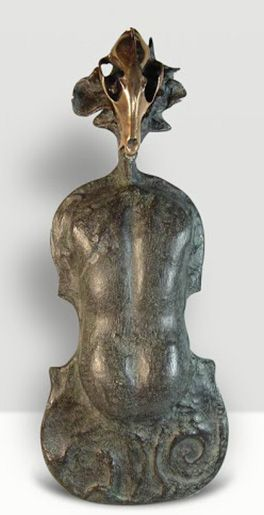 Salvador Dali sculpture for sale Violon de Ingres  is available through Robin Rile Fine Art. Contact info@robinrile.com for further details.  Escultura.