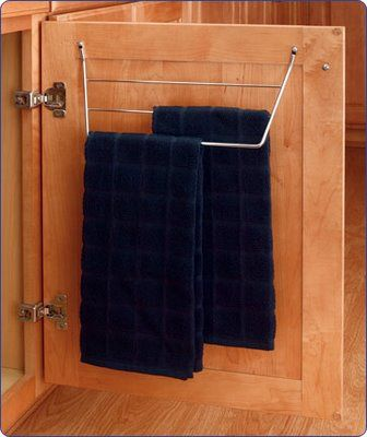 Inside Cabinet Towel Holder To Hide Your Towels Away