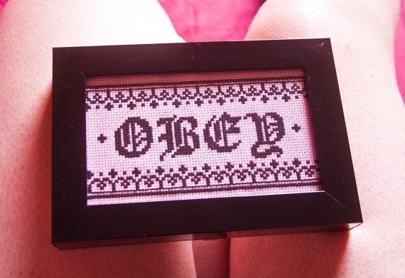 Obey - Cross-Stitch