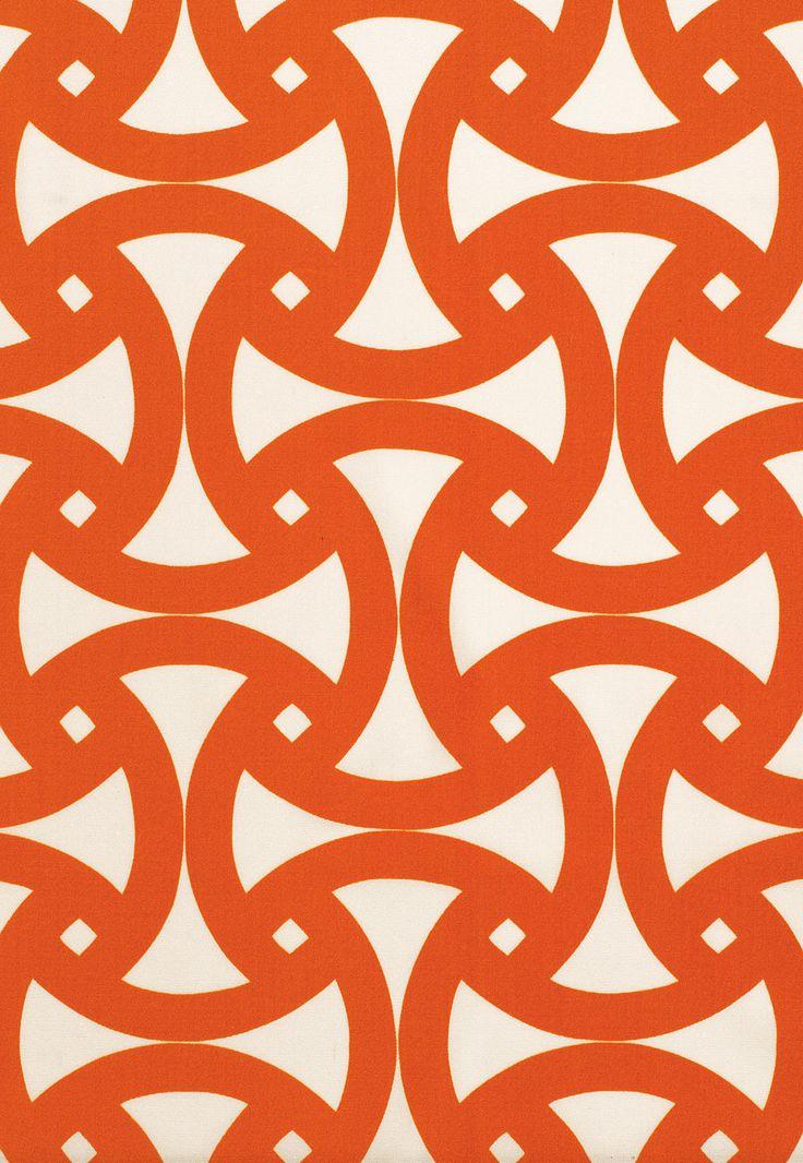 Fabric | Santorini Print In Persimmon | Schumacher