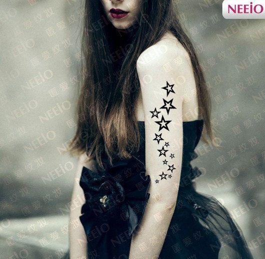 Star temporary tattoos finger wrist arm by Coolfashion4u on Etsy, $2.85
