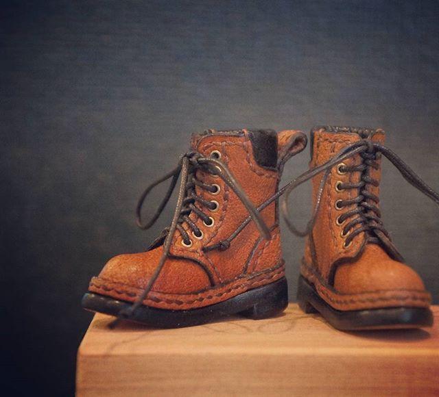 #blythe#handmade#ブライス#ハンドメイド 新しいブーツが出来ました**