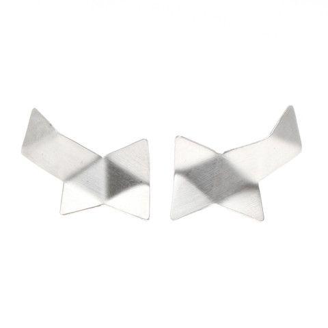 Malene Glintborg, Origami, ørestik, ørering, sølv, mat