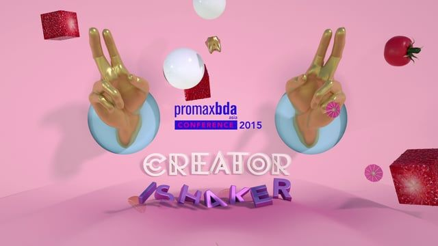 This is one of the projects I love most. Thanks to PromaxBDA Asia, we had lots of crazy idea on this one. So crazy that we scrap away some ideas that were time consuming.  Why the golden finger with a melon attached to it? This year theme was Creator Shaker. The golden finger or the hand simply represent the Creator, and the Shaker is where all the fruits comes in together to mash things up.  Project produced with Carbon Role in Project: Art Direction, Animation, Design, Client: Promax...
