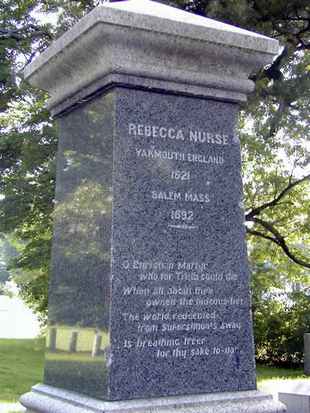 "Rebecca Nurse was an elderly and respected member of the Salem Village community. She was accused of witchcraft by several of the ""afflicted"" girls in the Village in March of 1692."