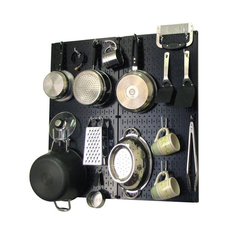 amazon com wall control kitchen pegboard organizer pots on wall control id=85609
