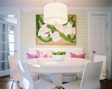 Treillis Wallpaper - Vert by Eileen Kathryn Boyd. Image by Lonny Magazine