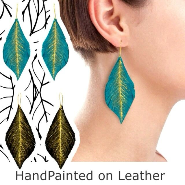 #feather #feathers in #leather #earings #jewelry #jewellery #unique #bespoke #handpainted #fashion #lifestyle #accessory #designer #fashionista #dreamer #accessories #accessorize #art #artist #design #decor #flukedesign #handpaint #handcraft #handcrafted #limitededition #custom #custommade