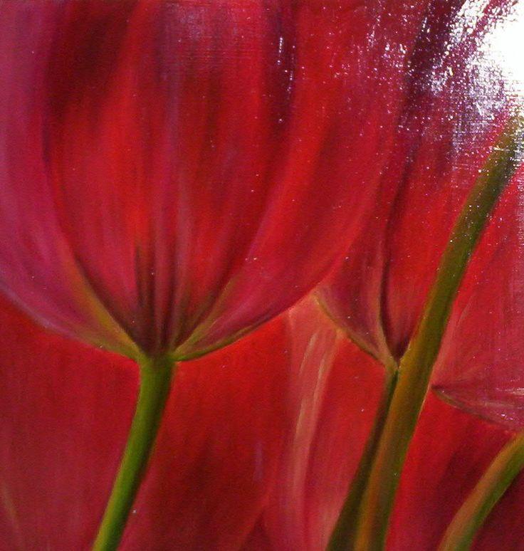 tulipan 2 , oleo