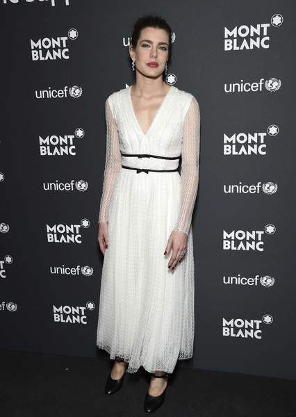 Charlotte de Monaco, à la soirée Montblanc pour l'UNICEF à New York le 3 avril 2017.