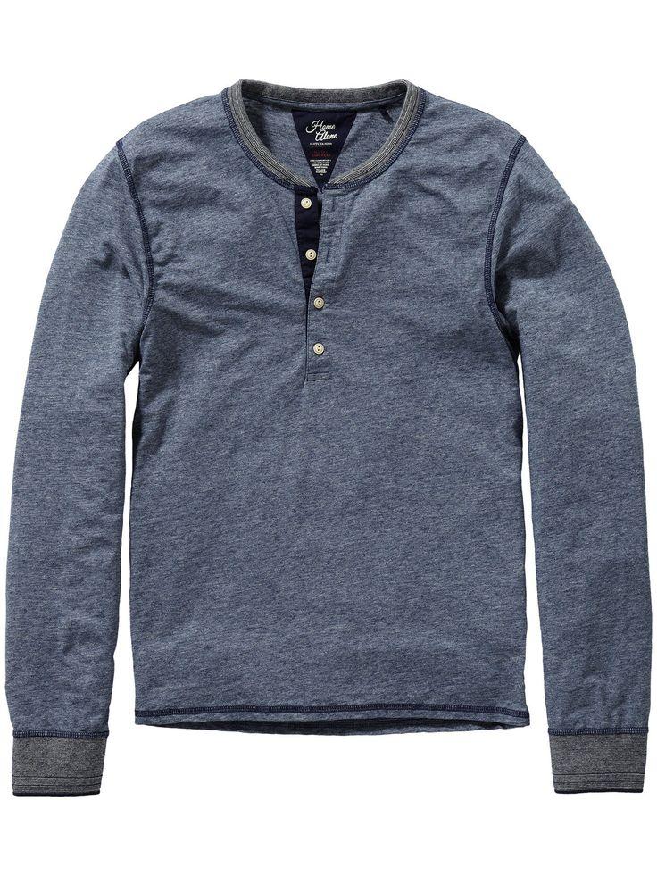 Grandad t-shirt | Jersey l/s tee's & tops | Men's Clothing at Scotch & Soda