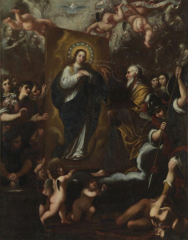 Resultado de imagen de josé garcía hidalgo dios padre retratando a la inmaculada
