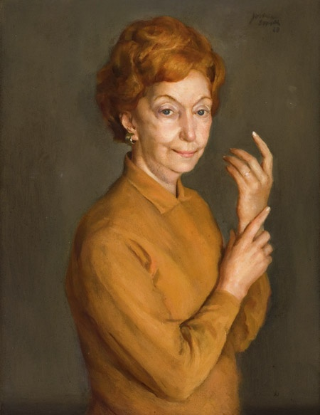 Portrait of Florence Broadhurst (1968) by Joshua Smith (National Portrait Gallery)