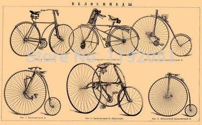 Bicycles pictures poster Imagich retro kraft paper vintage style decorative art reading room decoration liveing room decoration